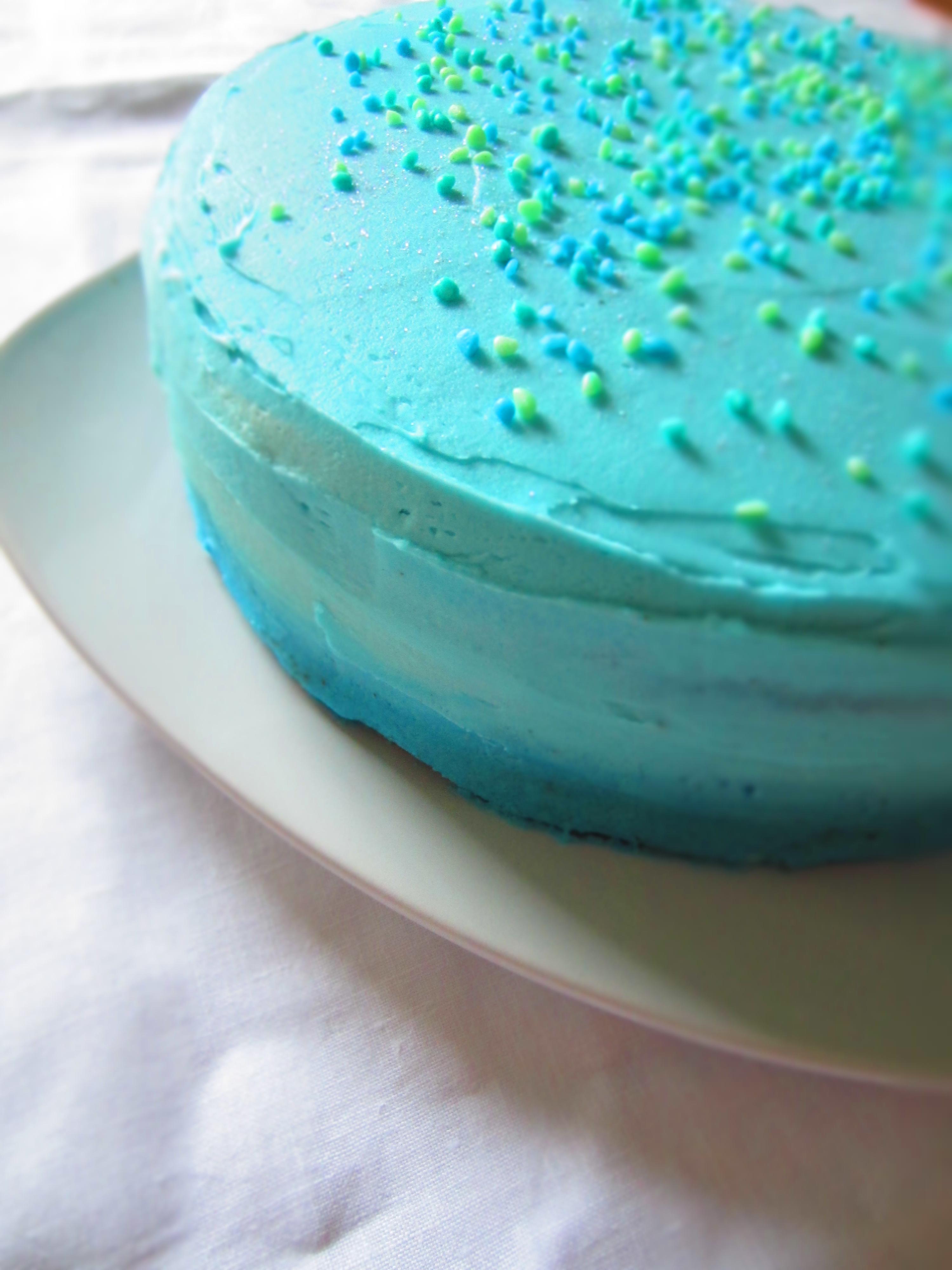 Dark Blue Cake Icing
